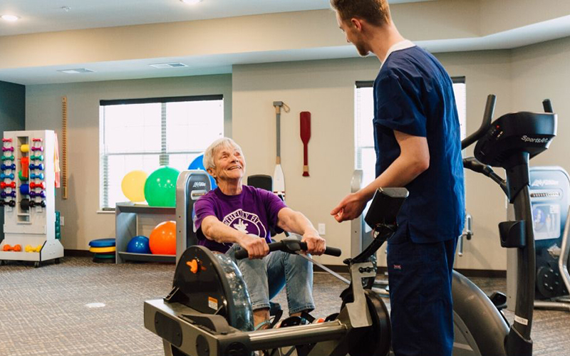 Occupational Therapy - working on exercise machines