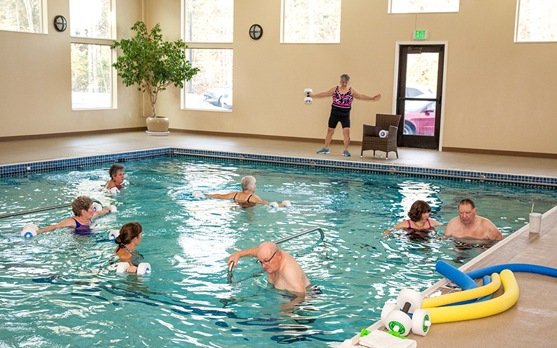 Warm water pool available at Progressive Care Therapy