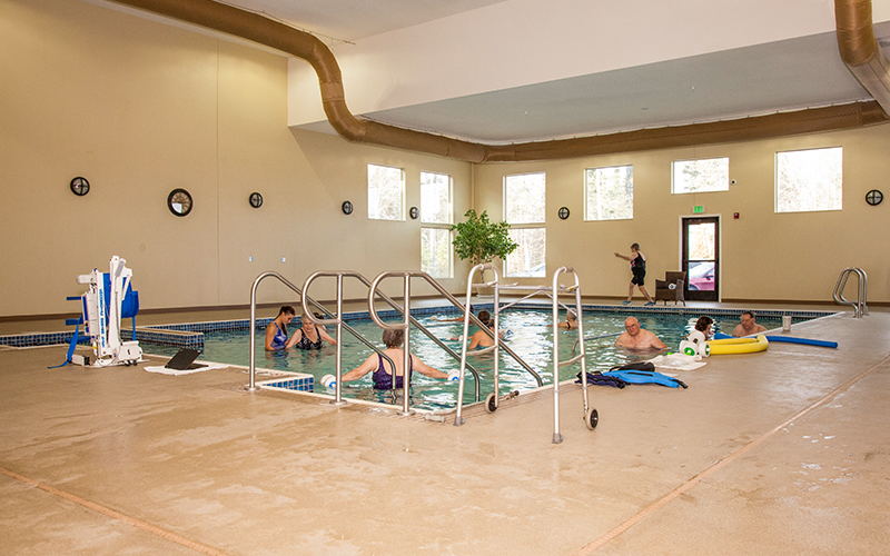 Warm water pool at Progressive Care Therapy